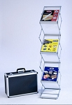 Deluxe Z brochure stand with case - frosted
