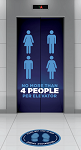 Social Distancing Elevator Graphics