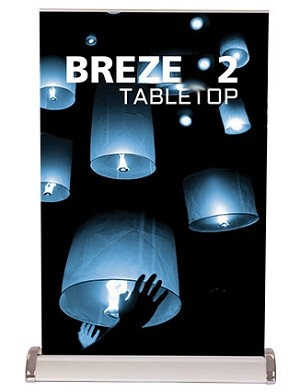 BRE table top banner stand